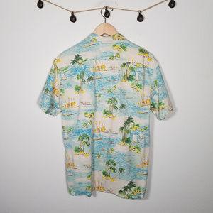 Lucky Brand Shirts - Lucky Brand Dale Hope Hawaiian Aloha Button Up L